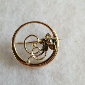 Vintage circa 1920's FLOWER pin